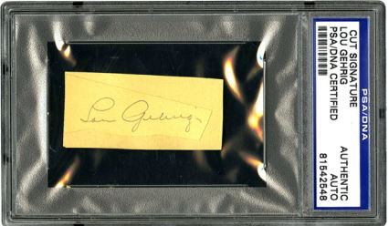 Lou Gehrig Cut Signature Example