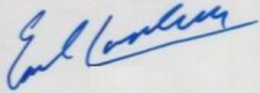 Earl Campbell Cut Signature Example