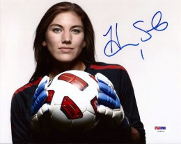 Hope Solo Signed Soccer Photo