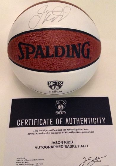 Jason Kidd Signed Basketball