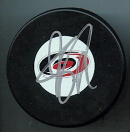 Jeff Skinner Signed Puck