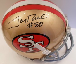 Jerry Rice Signed Helmet