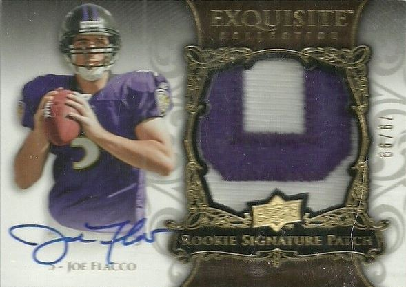 Joe Flacco Cards and Autographed Memorabilia Guide 1