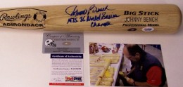 Johnny Bench signed Bat
