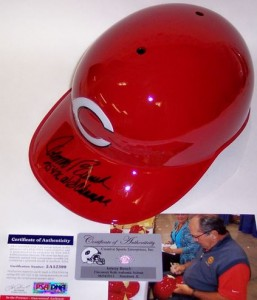 Johnny Bench signed Helmet