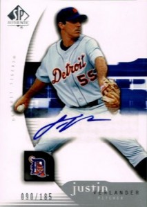 Justin Verlander Cards, Rookie Cards and Autograph Memorabilia Guide 2