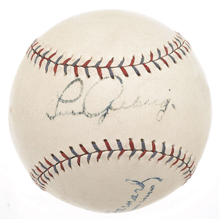 Lou Gehrig Signed Ball