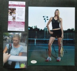 Maria Sharapova Signed Tennis Photo