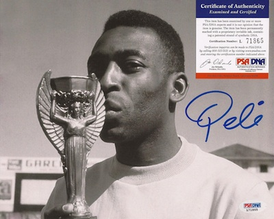 Pelé Rookie Cards Gallery and Autograph Memorabilia Guide 31