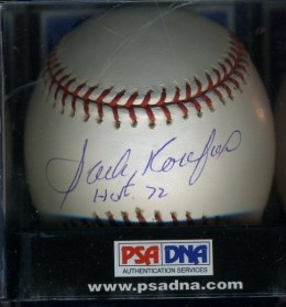 Sandy Koufax Cards and Autograph Memorabilia Guide 21