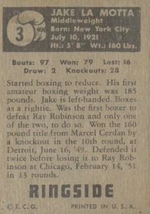1951 Topps Ringside Boxing Cards 2