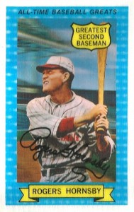 1972 Kellogg's All-Time Baseball Greats 2 Rogers Hornsby