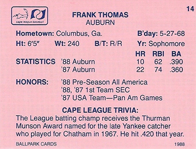 Top 20 Frank Thomas Cards 5