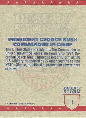 1991 Topps Desert Storm Trading Cards 2
