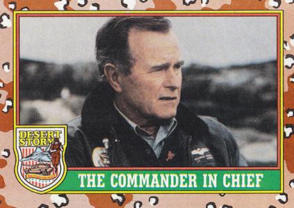 1991 Topps Desert Storm George Bush