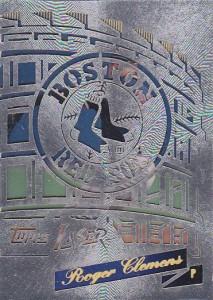 1996 Topps Laser Roger Clemens Stadium Stars