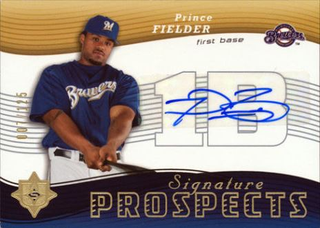 Prince Fielder Cards, Rookie Cards and Autographed Memorabilia Guide 2