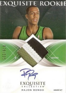 2006-07 Exquisite Collection Rajon Rondo RC #60 Autographed Jersey