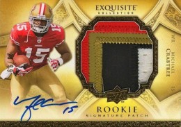 2009 Exquisite Collection Michael Crabtree RC #185 Autographed Jersey