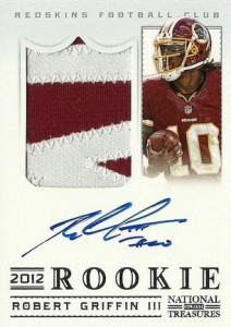 2012 National Treasures Robert Griffin III RC