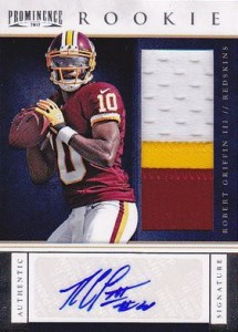 2012 Prominence Robert Griffin III RC