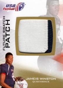 2012 Upper Deck USA Football Jameis Winston Patch Card