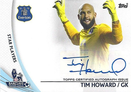 2013-14 Topps Premier Gold Star Players Autographs Tim Howard
