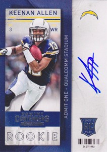 2013 Panini Contenders Football Rookie Ticket Autographs 217 Keenan Allen