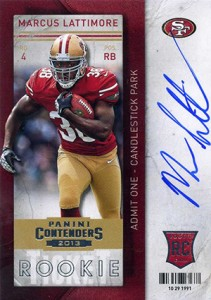 2013 Panini Contenders Rookie Ticket Autographs Variations Guide 87