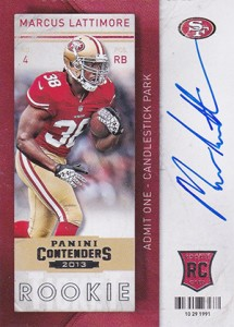 2013 Panini Contenders Rookie Ticket Autographs Variations Guide 88