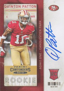 2013 Panini Contenders Rookie Ticket Autographs Variations Guide 101