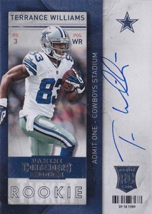 2013 Panini Contenders Football Rookie Ticket Autographs 236 Terrance Williams