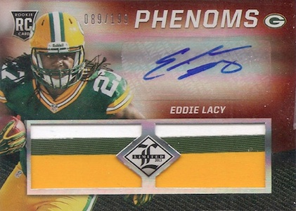 2013 Panini Limited Eddie Lacy RC 208 Autographed Jersey Image