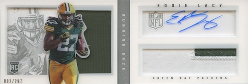 2013 Panini Playbook Eddie Lacy RC 208 Autographed Jersey Image