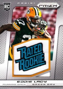 2013 Panini Prizm Eddie Lacy RC 232 Rated Rookie Patches 213x300 Image