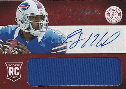 2013 Panini Totally Certified EJ Manuel RC 219 Autographed Jersey Image