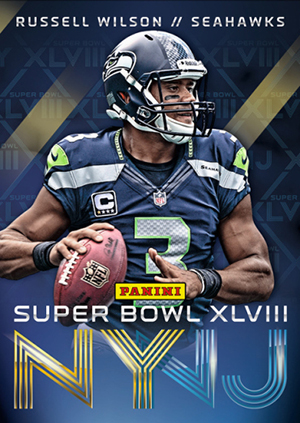 2014 Panini Super Bowl XLVIII Collection Football Russell Wilson