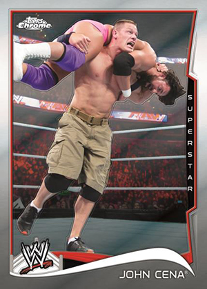 2014 topps chrome wwe checklist set info boxes reviews