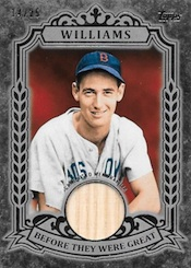 2014 Topps Series 1 Baseball Before They Were Great Relics Ted Williams