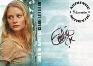 2006 Inkworks LOST Season 3 Autographs A13 Emilie de Ravin as Claire Littleton