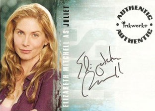 2007 Inkworks LOST Season 3 Autographs A26 Elizabeth Mitchell as Juliet