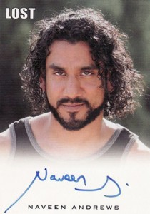 2011 Rittenhouse Lost Relics Autographs Naveen Andrews as Sayid Jarrah