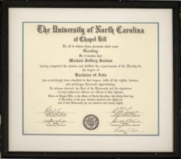 UPDATED Michael Jordan UNC Diploma, Dream Team Uniform Highlight Goldin Winter Auction  1