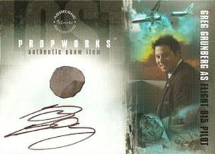 2007 Inkworks LOST Season 3 Autographed Propworks PPWA-1 Greg Grunberg as Pilot of Oceanic 815