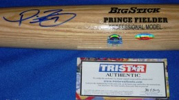 Prince Fielder Signed Bat