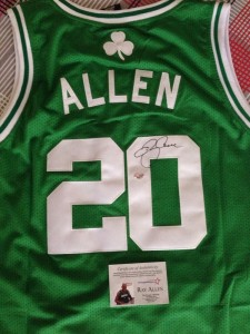 Ray Allen Signed Jersey