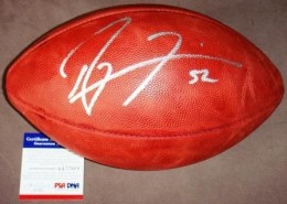 Ray Lewis Signed Football