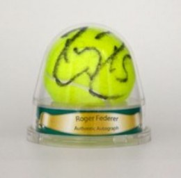 Roger Federer Signed Tennis Ball