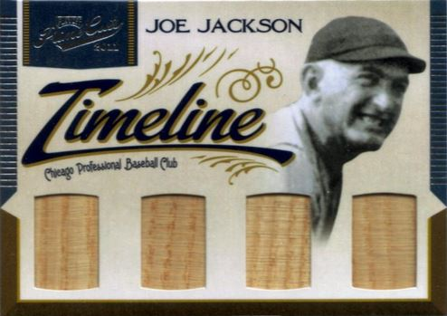 05-2011-Playoff-Prime-Cuts-Timeline-Quad-Memorabilia-Joe-Jackson