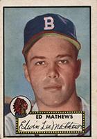 Eddie Mathews Cards and Autographed Memorabilia Guide
